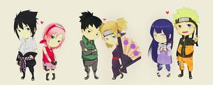 Sasuke and Sakura, Shikamaru Nara and Temari, Hinata and Naruto