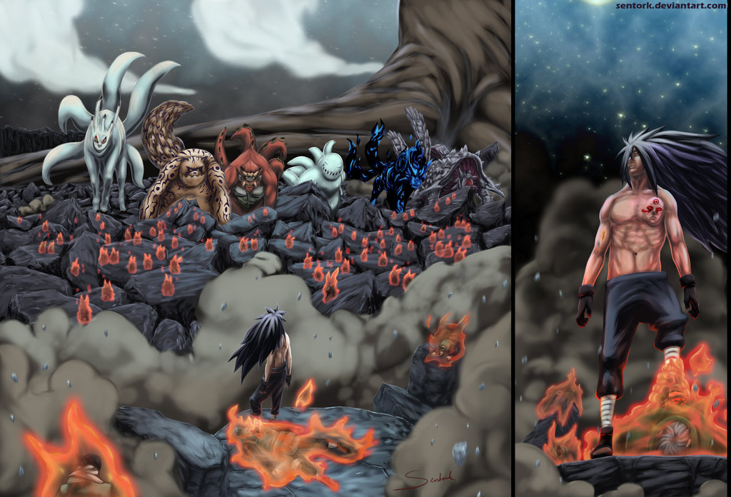 madara vs tailed beasts naruto shippuuden photo