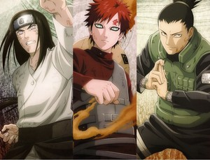 Neji, Gaara & Shikamaru