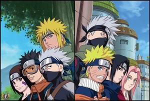 Minato's team and Kakashi's team