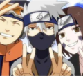 Kakashi, Obito and Rin - naruto photo