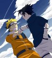 Naruto and Sasuke - naruto fan art