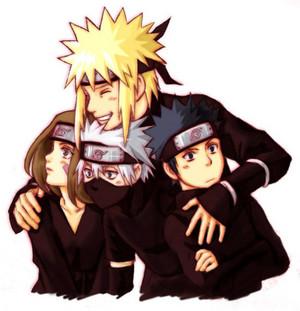 Minato, Rin, kakashi and Obito