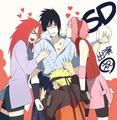 Sasuke, Karin, Sakura, 火影忍者 and Suigetsu