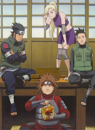 Naruto Picha Asuma Ino Shikamaru And Choji Karatasi La Kupamba