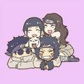 Kurenai Sensei, Hinata, Kiba and Shino