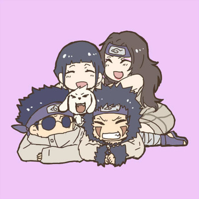 Kurenai Sensei, Hinata, Kiba and Shino - Naruto Fan Art ...