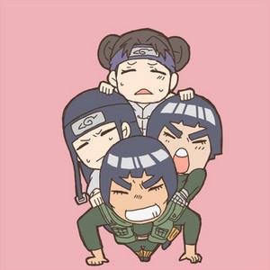 Gai Sensei, Neji, Tenten and Lee