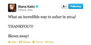 Stana's twitter(January,2014)