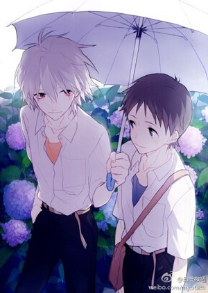 Kaworu and Shinji