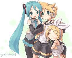 RIn, Len and Miku