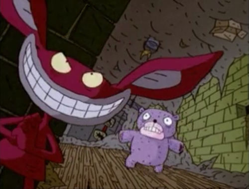 ओल्ड स्कूल निकलोडियन वॉलपेपर possibly containing ऐनीमे titled Ickis - Aaahh!!! Real Monsters