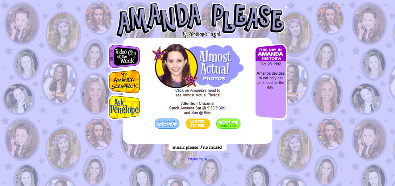 AMANDA PLEASE