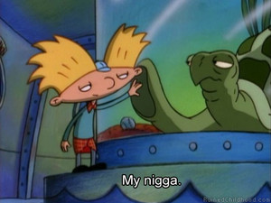 Hey Arnold and a turtle