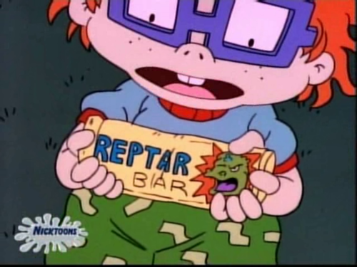Old School Nickelodeon wallpaper containing anime called Chuckie and a reptar bar