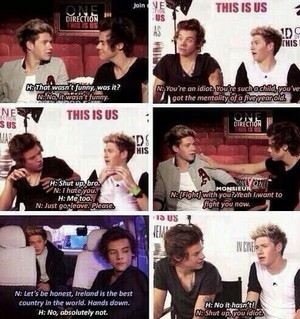 Aww the cute Narry Fights♥
