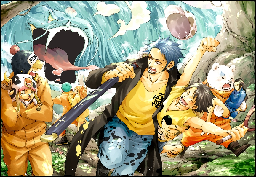 Law and Luffy!!
