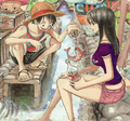 Robin and Luffy - one-piece fan art