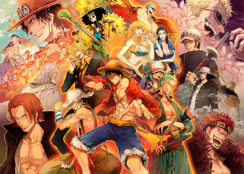 One Piece fond d'écran containing animé entitled One piece fanart