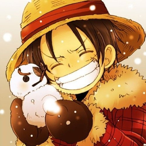 One Piece fond d'écran titled Christmas Luffy
