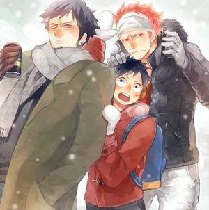 Happy navidad Kid Luffy Law