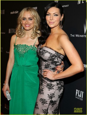 Taylor Schilling and Laura Prepon at the 2014 Golden Globes