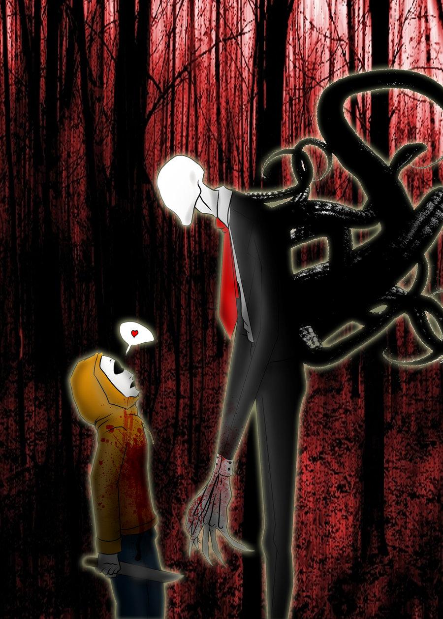 Slender man and Masky