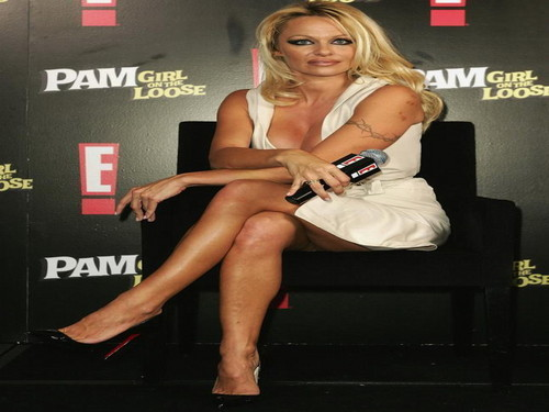 Pamela Anderson wallpaper possibly containing bare legs and hosiery entitled Pamela