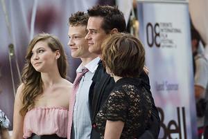 Paul Gross with wife (Martha Burns) and kids (Hannah and Jack)