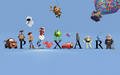 Pixar with characters