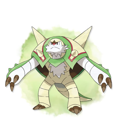Pokémon achtergrond entitled Pokemon X&Y: Chesnaught