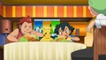 Stephan and Ash chowing down - pokemon photo