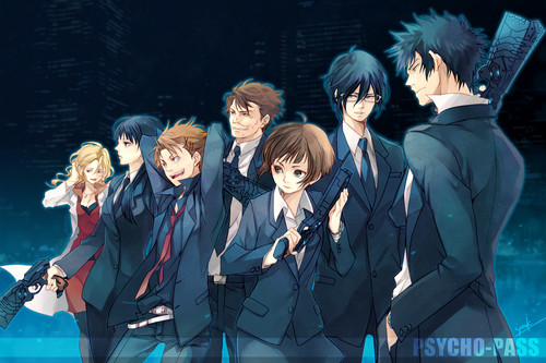 Psycho-Pass 壁紙 probably with a business suit and a well dressed person called Psycho-pass
