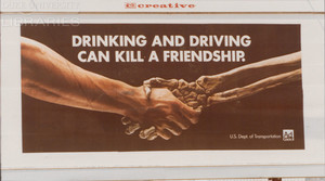 Billboard ad for anti-drunk driving
