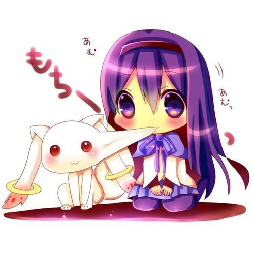 Puella Magi Madoka Magica hình nền entitled Kyubey cute