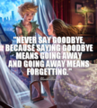 Never Say Goodbye - quotes fan art