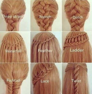 Different kind of plaits