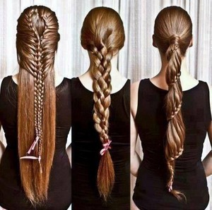 Different long hair styles