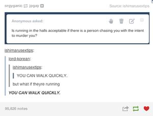 Walking Quickly.. lol