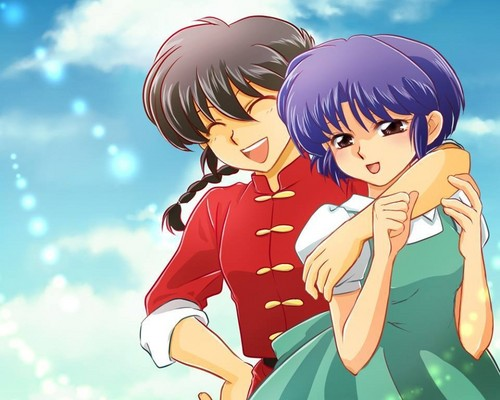 Ranma 1/2 wallpaper with Anime entitled Ranma hugs Akane