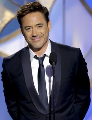 Robert at the 71st Golden Globe Awards.