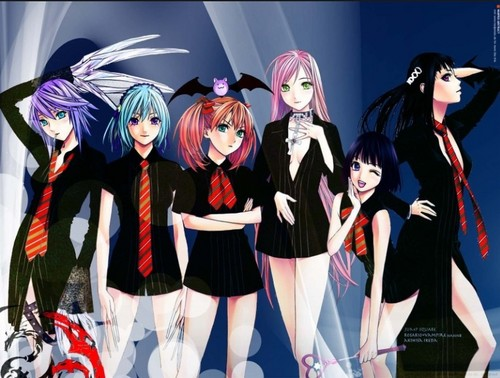 Rosario Vampire wallpaper titled Moka and the others school style