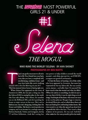 Selena Gomez Seventeen Magazine 2014