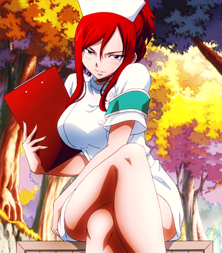 Sexy, hot anime and characters karatasi la kupamba ukuta possibly with anime titled Erza Scarlet