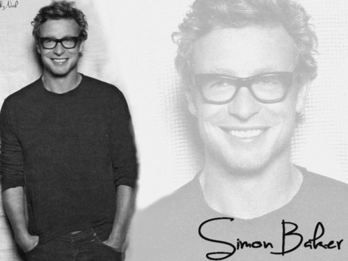 साइमन बेकर वॉलपेपर possibly with a jersey and a portrait called Simon Baker