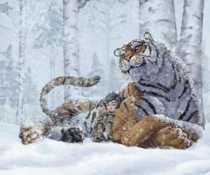 tigre et soeur