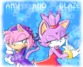 Amy and Blaze - sonic-the-hedgehog fan art