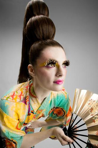 Stana Katic karatasi la kupamba ukuta probably containing a kimono called Stana Katic