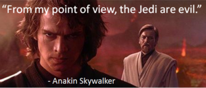 Anakin/Vader on Mustafar