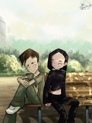 Yumi and Ulrich from Code Lyoko